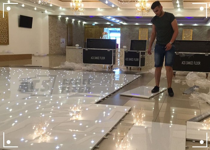 acrylic led star light twinkling UK dance floor from ACS