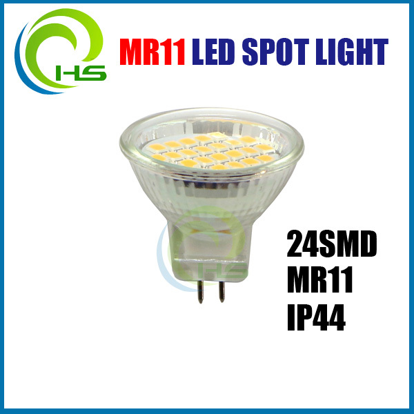 2014 hot sale 24smd /cob IP44 dimmable GU10 MR11 LED Spot, 24smd MR11 LED, 12V GU4 MR11 LED SPOT