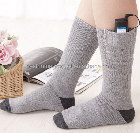 2016 high quality battery operated heated socks