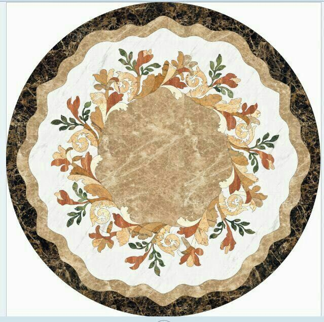 China manufacturer round natural marble medallion mosaics with great price