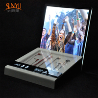 Acrylic Led Light Earphone Display Headset Display Stand Holder
