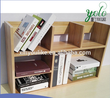 Adjustable Literature Cherry Wood bamboo desk organizer