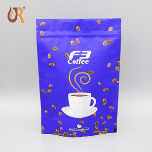 High Quality resealable laminated aluminum foil stand up zip lock food Plastic packaging coffee bag with valve