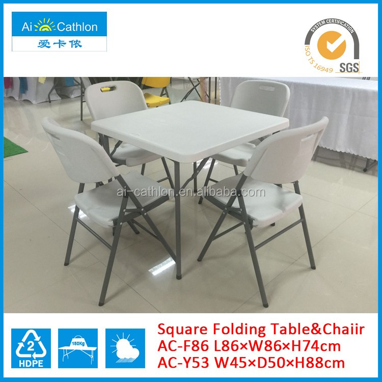 Fast supplier folding mahjong table set price for sale, hdpe plastic folding table