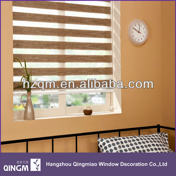 QINGM roller type of zebra blinds fabric for window blinds