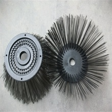 Custom Sanitation round metal wire brush for road sweeper