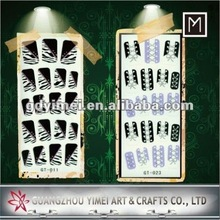 2012 New Design Glitter Nail Stickers Full Nail Art Stickers