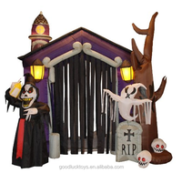 2015 The fast delivery Inflatable Halloween haunted house