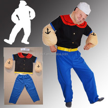carnival adult men super popeye costume MC-0012