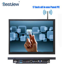 4:3 17 inch 5 wire resistive touch screen panel mini PC 64 GB wifi optional