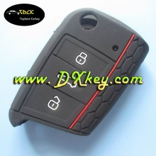Factory price siliocone key case for flip skoda silicone car key cover Skoda key case no logo