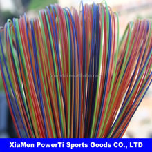 new design nylon Rainbow line/colorful badminton racket string
