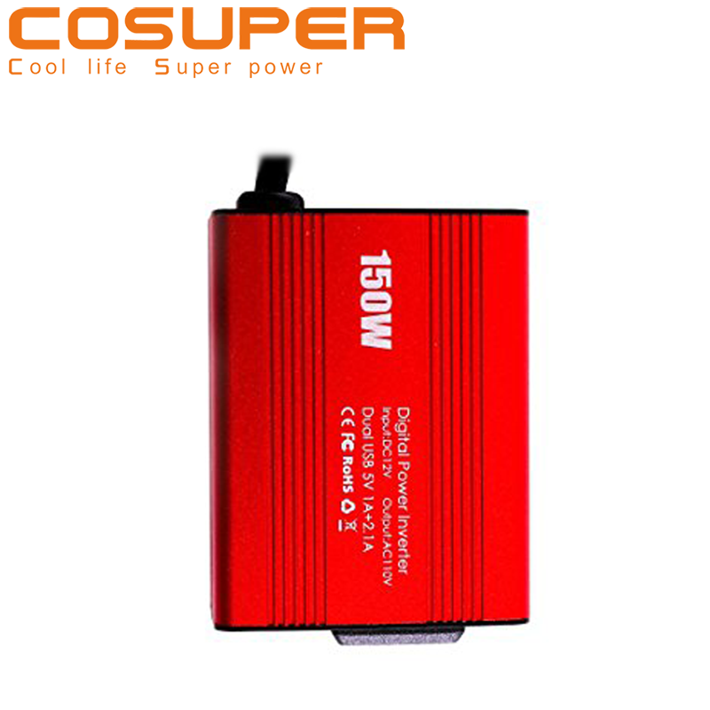 <strong>dc</strong> 12V to 110V 120V ac intelligent 150w car power inverter charger with 3.1A Dual USB