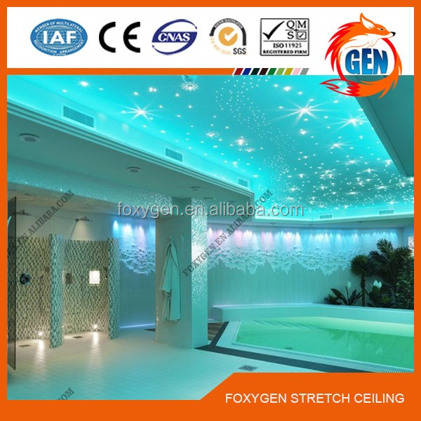 Project bendable flexible false curved ceiling design with 15-year warranty for swimming pools
