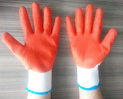 13 gauge colourful nirtirle coated disposable nitrile gloves from china