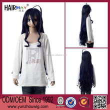 "39"" Synthetic Cosplay Wig Female Hairstyle Long Curly Wavy Black Hair Wigs African American Wig"