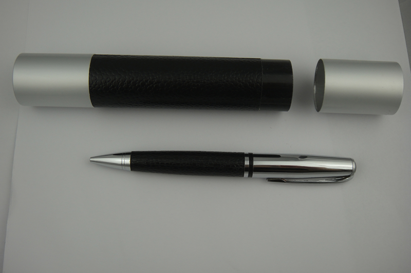 Metal Pu leather Ballpoint and Roller Pen Sets