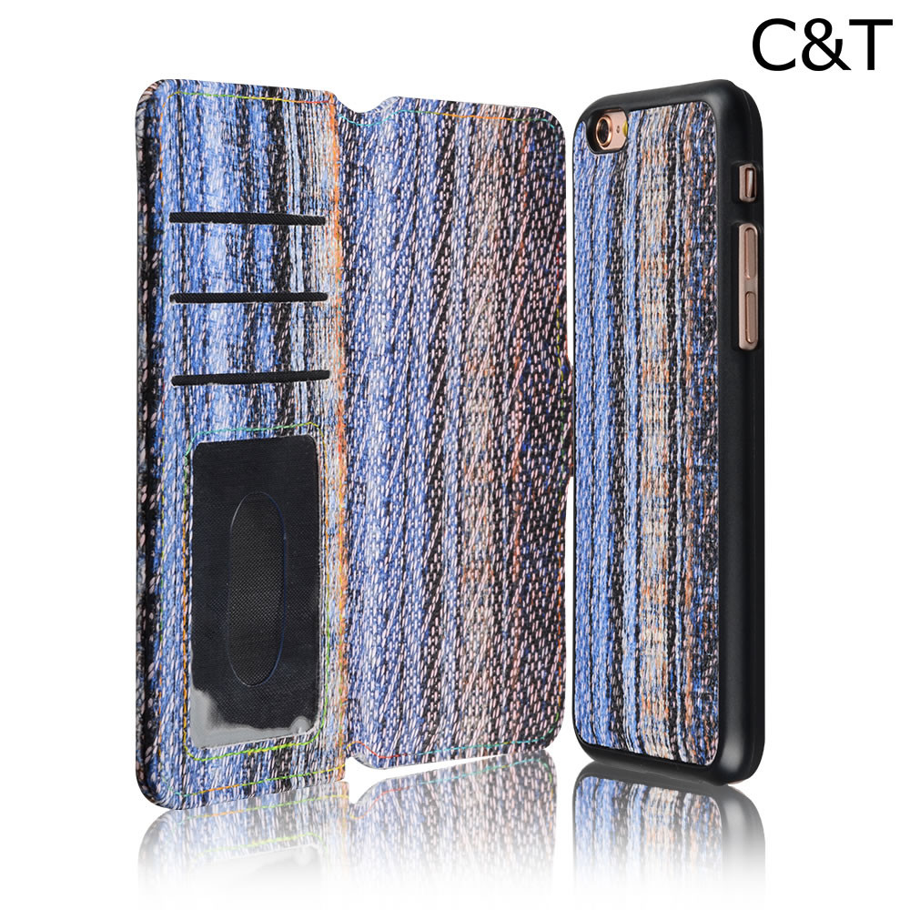 C&T Handmade Genuine Leather Premium Wallet Smartphone Case for iPhone 6 (4.7)