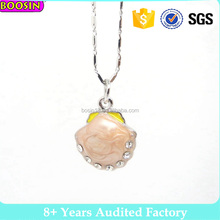 2017 Latest design metal alloy crystal wholesale Coin Purse bag enamel necklace