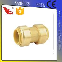 LB-GUTEN TOP Brass Lead Free Straight Male Connector (Parallel Thread) 15mm x 1/2 in BSP Ma/Coupling /Forged/Welding/Equal/Alloy