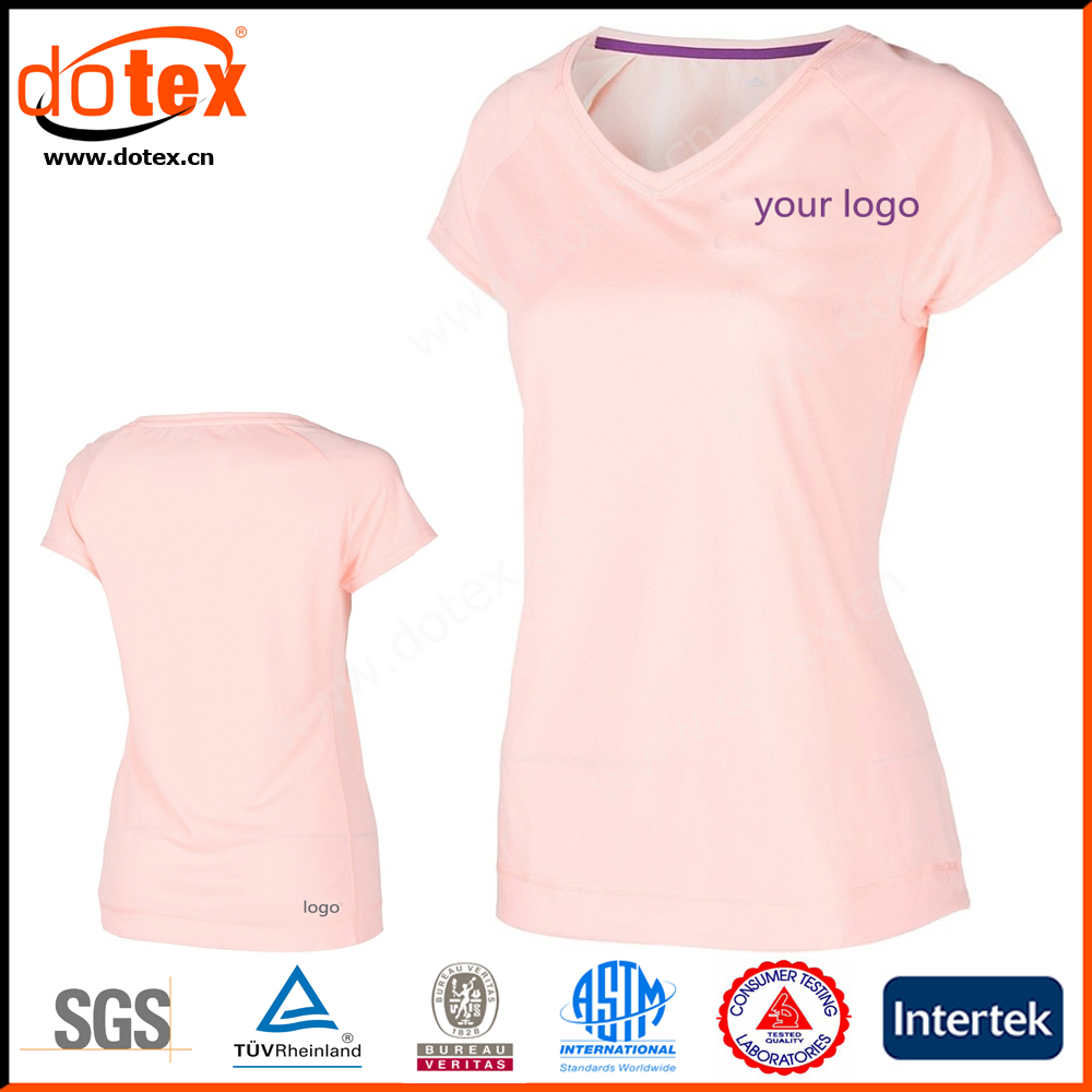 2018 wicking dry rapidly high quality ladies knit running gym t shirt