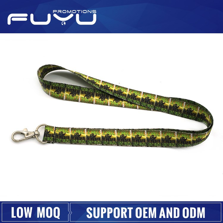 Wholesale low MOQ high quality sublimation OEM yarn lanyard for sale