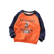 100% cotton kids printed Round neck <strong>children</strong> <strong>hoodies</strong>