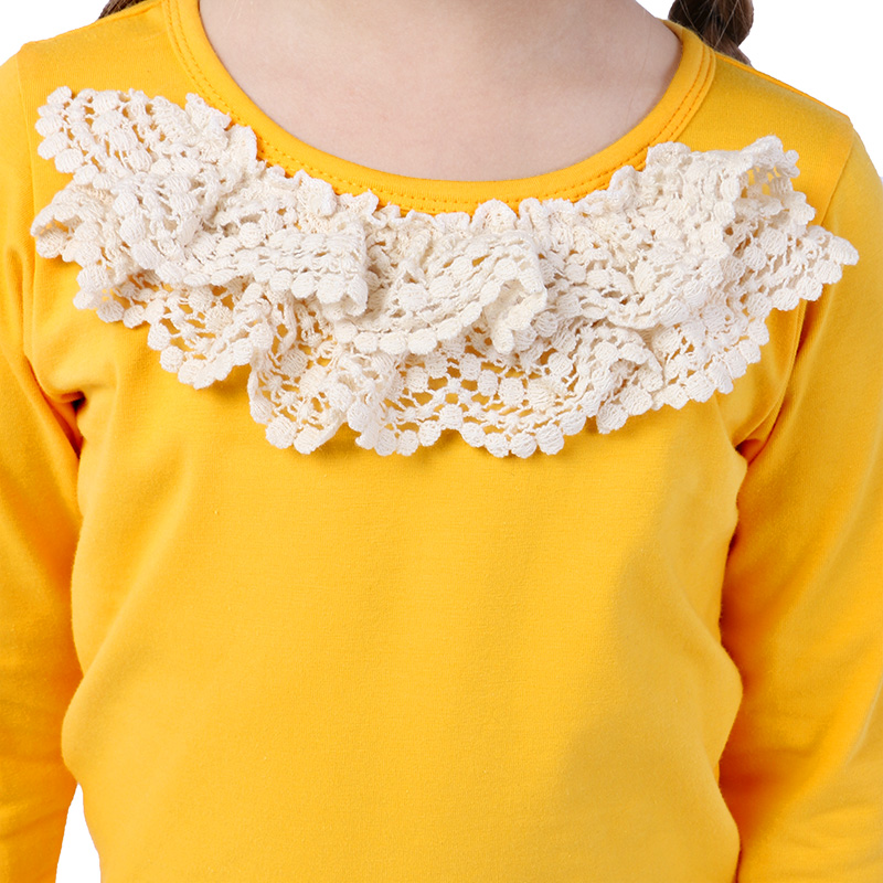 bulk kids wholesale flower lace print clothing long sleeve ruffle sets for girls kids clothes
