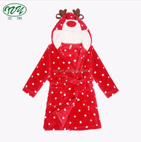 Hooded Plush Robe Animal Fleece Bathrobe Children Sleepwear In Pajamas Christmas Pajamas For Kids
