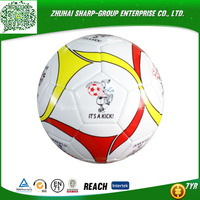 promotional Emboss logo Rubber machine stitched football &soccer ball