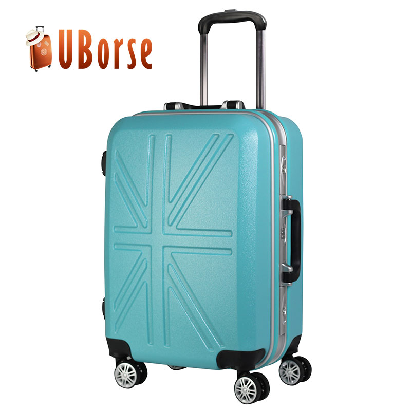 UBORSE ABS + PC 20 inch trolley suitcase with aluminum frame