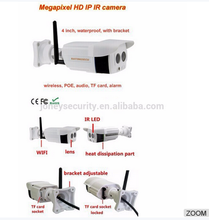 4pcs H.264 compression mode wifi ip bullet cameras wireless wifi nvr kits wireless 4ch POE NVR KITs with factory price