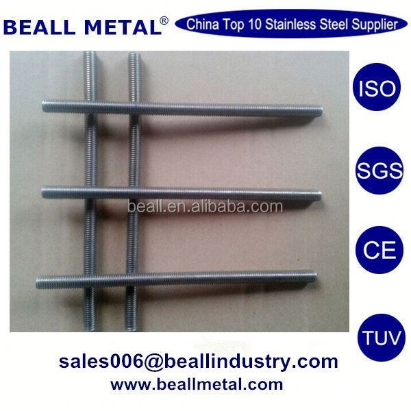 Stainless steel lead screw long threaded rod with brass nut