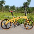 Chinese 20 inch high quality steel frame 7 speed folding bike