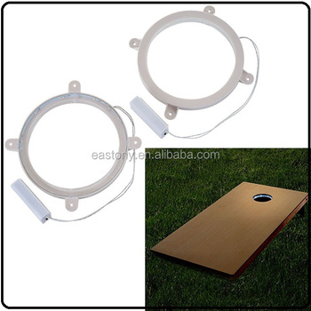 Cornhole LED Light Ring Set - Easy Install
