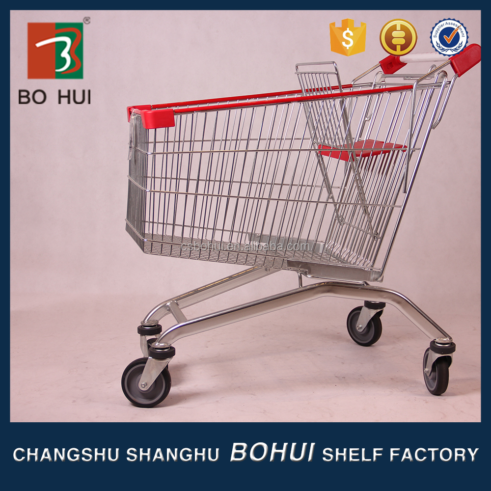 Trade Assurance Supplier vegetable shopping trolley cart with 4 wheels