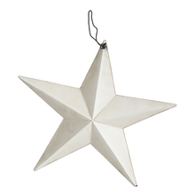 White Antique Finish hanging Dimensional Steel Metal Barn Star