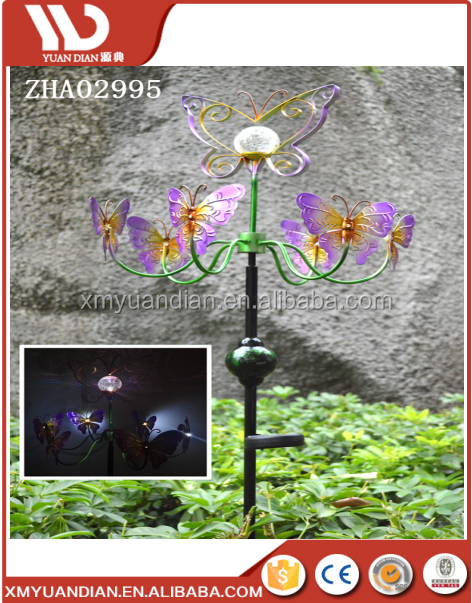 2017 Hot Sale Metal Solar Light Garden Windmill For Out Door Decoration  Stake
