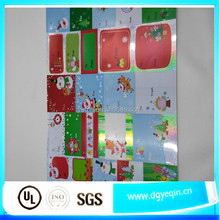 FACTORY PRICE Decorative removable vinyl christmas blank label stickers
