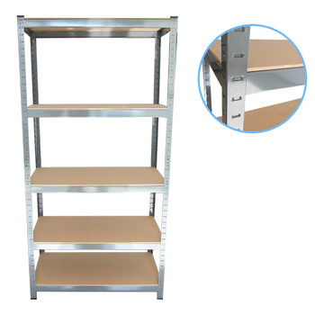 Top quality adjustable steel shelving 5 layer storage rack for sale