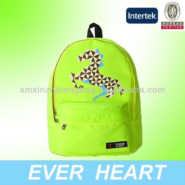Grass Green color mochila walmart bag,mochilas school bags with horse printing