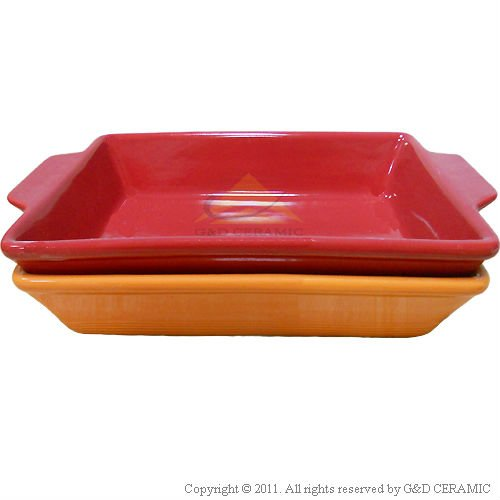 Rectangular Ceramic Serving Tray Baking Tray
