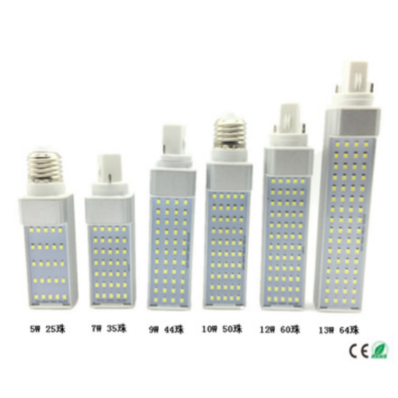 LED G24 Corn Light <strong>Bulb</strong> 110V 220V 10W G24 PLC Lamp Horizontal Plug Light with 12W CFL Replacement