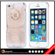 Keno Luxury Fashion Cool 3D Cystal Clear Water Cube Phone Case for iPhone 5 5S with Kickstand Design