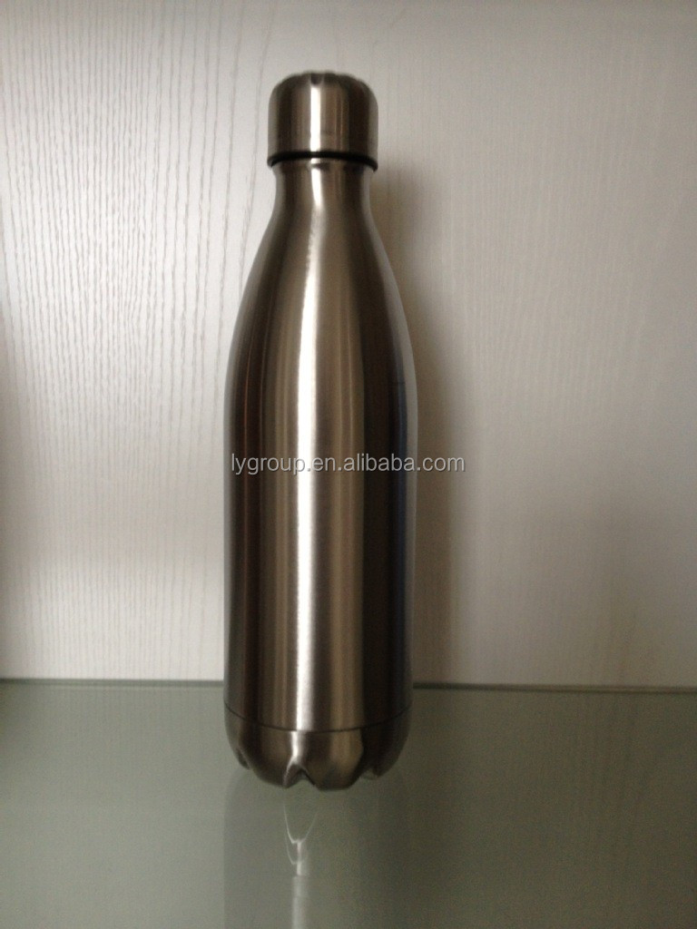 Double wall coal shape newest stainless steel water bottle thermal thermo bottle