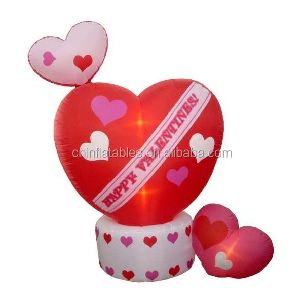 inflatable decoration lighting/8 Foot Animated Inflatable Valentine's Day Hearts w-Top Heart Rotating