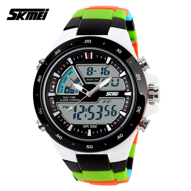 SKMEI factory direct online wholesale Analog digital sports watches with 50M waterproof #1016