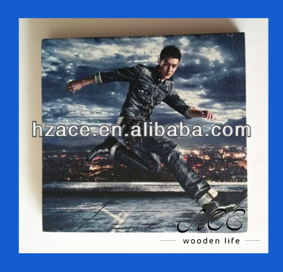 Personalized Wooden Painting Digital printing on wood Wooden Poster Card for Home Decoration