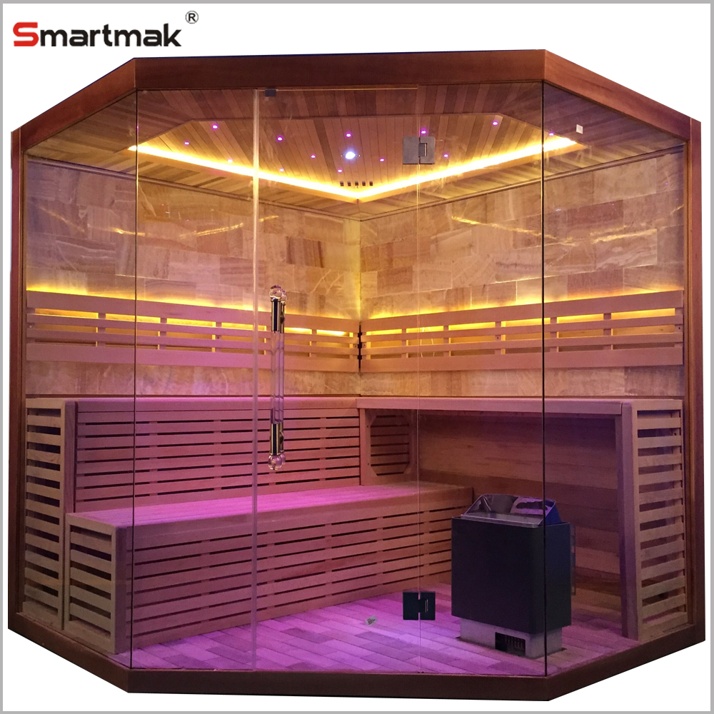 4 person sauna set with full spectrum infrared glass panel heater