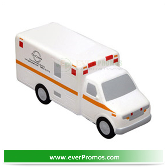 PU Material Ambulance Stress Reliever For Promotion
